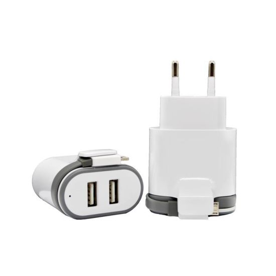 EU/Us Pin Home Wall Charger Mobile Phone Charger with Cable