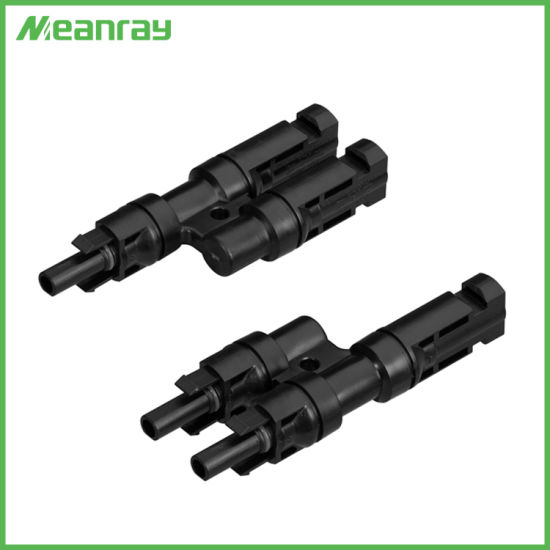 China High Quality Mc4t3 Connector Mc4 Y-Branch DC Cable Connector
