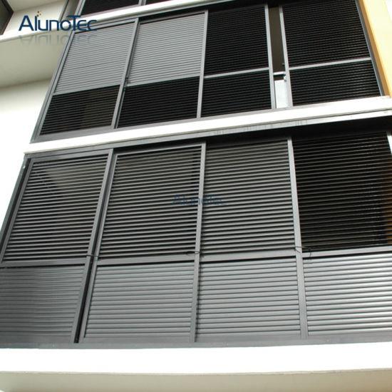 Exterior: China Aluminium Sliding Shutter Aluminum Exterior Sliding