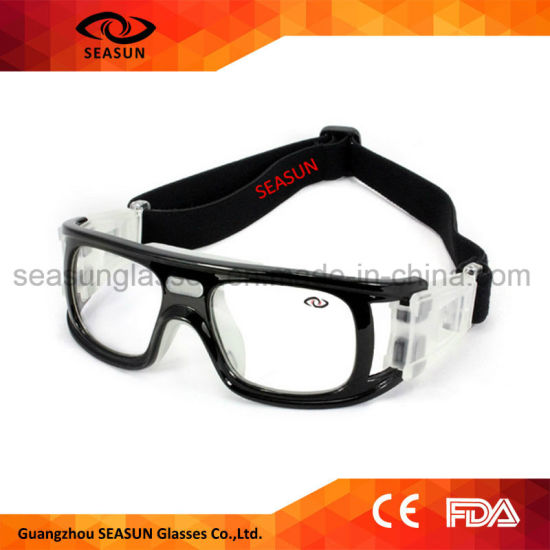 f8f5b4f7aa4 Full Square Frame Clear Lens Sport Riding Basketball Soccer Football Eye  Safety Glasses