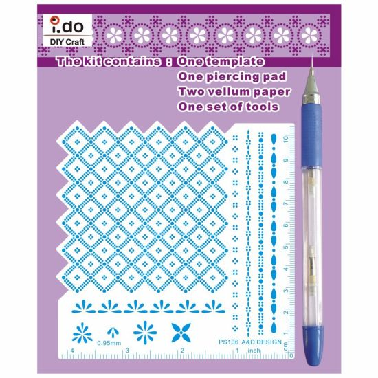 China Embossing And Piercing Parchment Craft Kit For Card Making