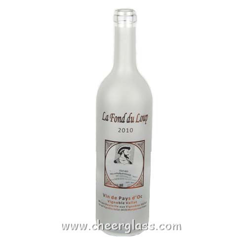 Silk Screen Printing Frosted High Clear Glass Bottle pictures & photos