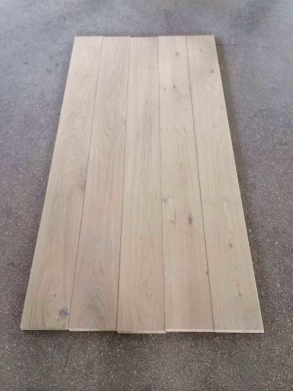 Low Cost 10mm Unfinished European Oak Engineered Flooring pictures & photos