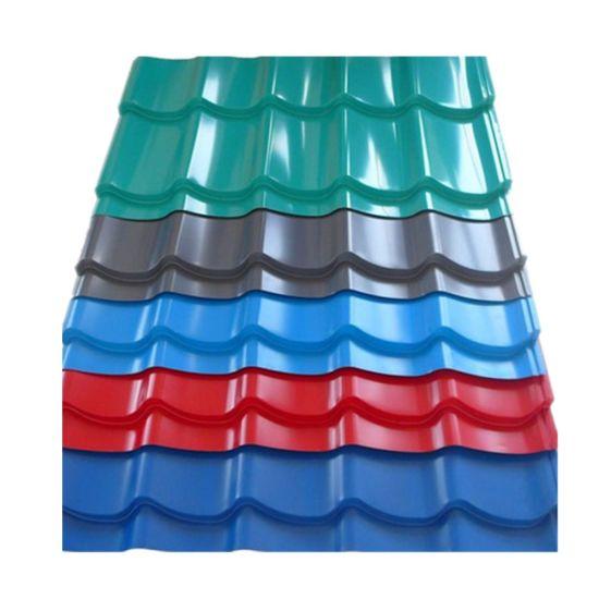 Roof Tile Prepainted Galvanized Corrugated Gi Metal Roof Sheet in Ghana