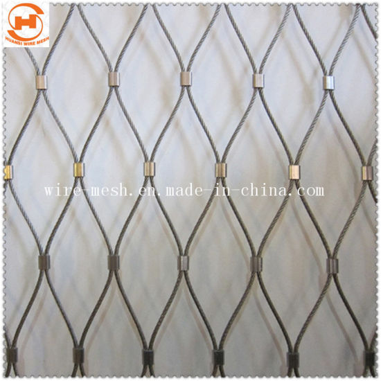 Ferrule Woven Rope Wire Mesh /SS316 Decorative Rope Mesh
