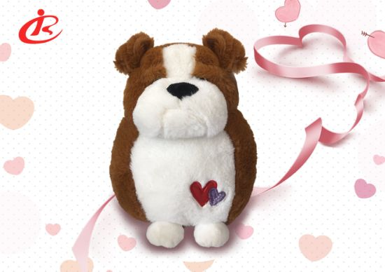 Plush Toy Dogs with Heart