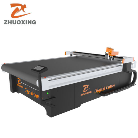 Auto Feeding Cutting Machine for Bed Sheet Vibrate Oscillating Knife Cutter No Smell Clean and Smooth Cutting Edge