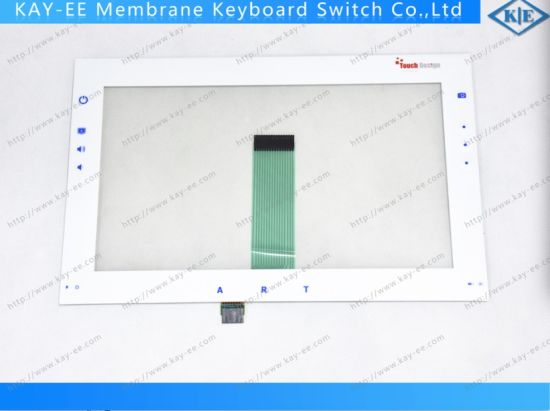 Hightransparent ITO 8 Wire Touch Panel Oca Bonding with Membrane Control Panel pictures & photos