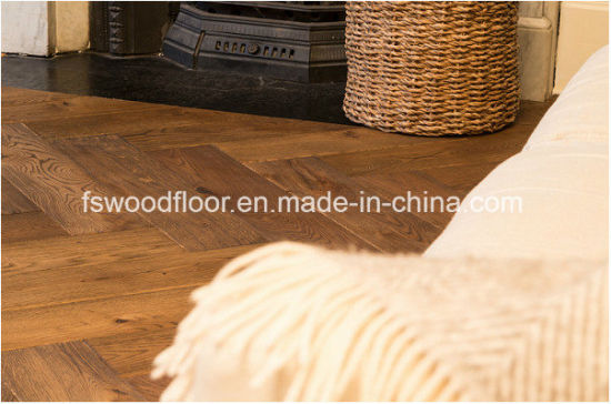 Smoked Natural Oiled Engineered Oak Wood Plank Flooring pictures & photos