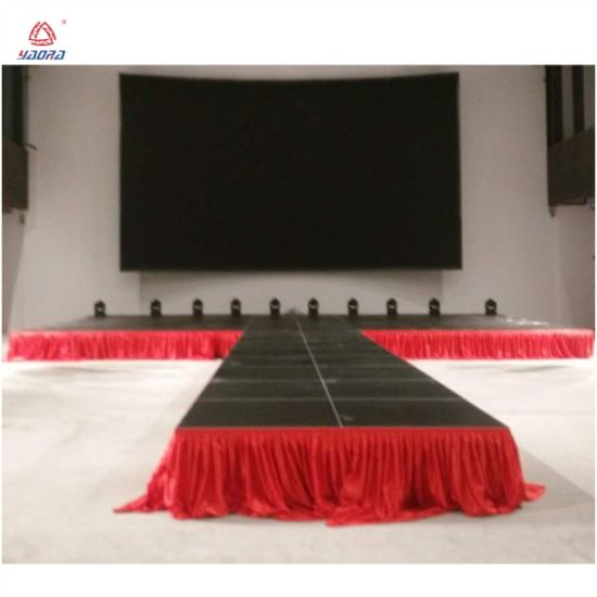 Mobile Portable Aluminum Stage Concert Event Plywood Outdoor