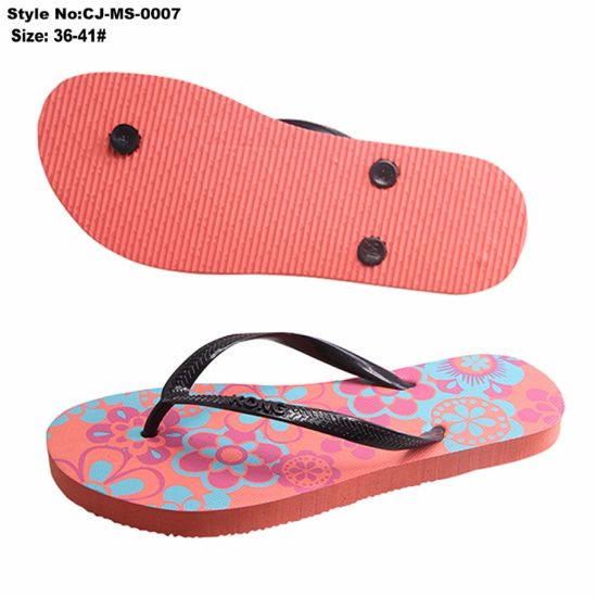 844ceb73720f72 China Lady′s PE Flip Flop Slippers Lovely Animal Printing - China ...