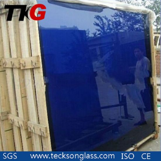 Colored Painted Clear Crystal Golden Bronze Grey Blue Green Dark Black Light Tinted Reflective Float Building Sheet Structural Glass Wholesale Teckson