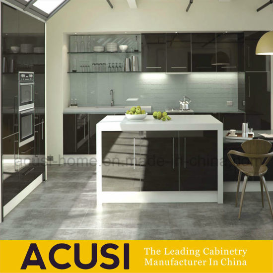 New Design Lacquer Plywood Modern Kitchen Cabinet (ACS2-L112)