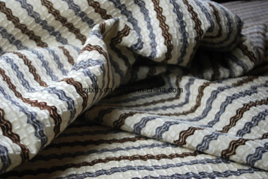 Stripe Flock Fabric for Sofa pictures & photos