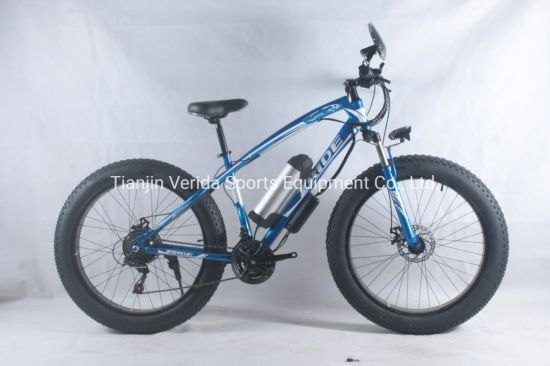 21speed 26inch Steel Fat Tire Electric Bike with Computer