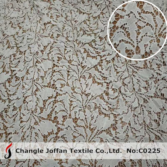 Wedding Dress Lace Fabric Chemical Polyester Lace (C0225)