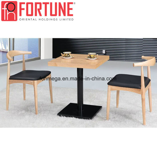 High Quality Restaurant Leather Chairs with Power Coasted Legs Table (FOH-BCA05)