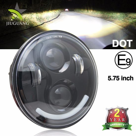 DOT Emark Approved Stunning Beam DRL 5.75inch LED Headlight for Motorcycles