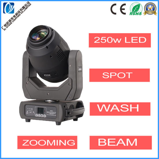 250W LED Super Beam Wash Spot 3in1 Moving Head Stage Lighting
