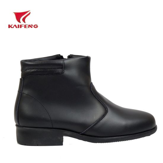 Malaysia Black Ankle Leather Boots