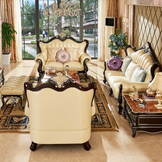 European Genuine Leather Sofa With Optional Sofas Color And Seater 560