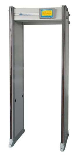 """IP65 Waterproof 24/33/45 Zones Walk Through Metal Detector with 7"""" LCD Display with DSP Technology"""