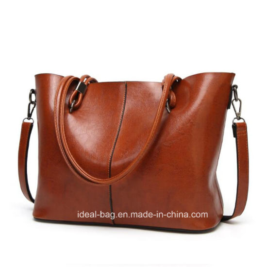 Custom Fashion PU Leather Ladies Crossbody Shoulder Sling Bag Woman Brand Designer Luxury Tote Lady Handbag Wholesale pictures & photos
