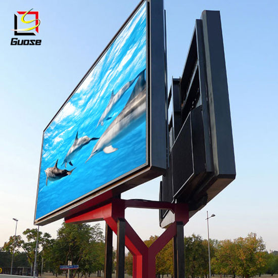 Scrolling Aluminum Standing Steel Structure Design Supplier Digital Advertising Billboard