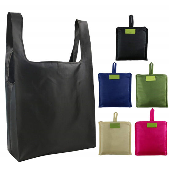 Ripstop Polyester Reusable Foldable Durable Washable Shopping Bag pictures & photos