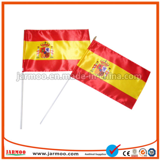 China Promotional Printed Cheap Small Custom Hand Held Waving Flags