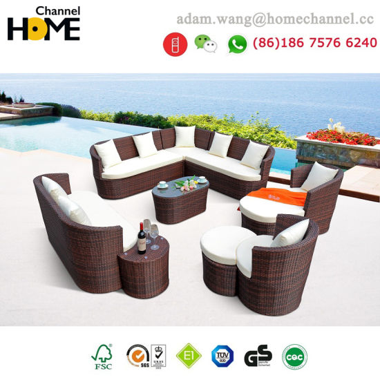 2018 New Rattan Garden Furniture Outdoor Sofa Set S812