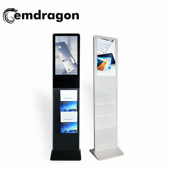 Advertising Display Brochure Holder 27 Inch Advertising Player Floor Standing LED Taxi Advertising Player Advertising Screens LCD Digital Signage