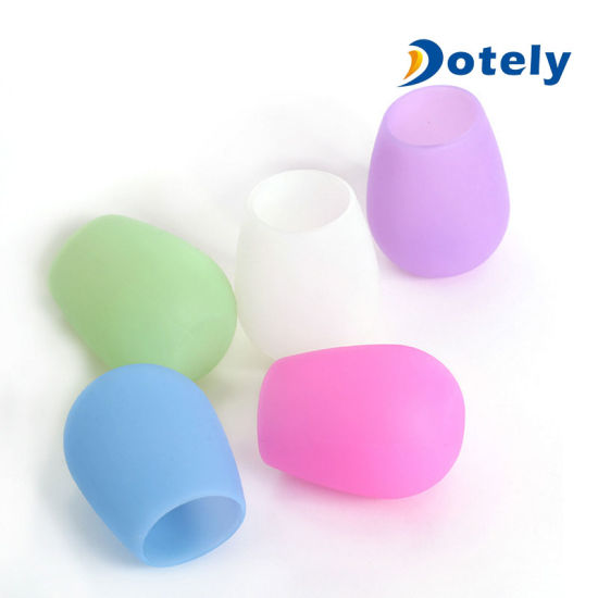 Unbreakable Outdoor Dishwasher Rubber Wine Cups Silicone Wine Glasses