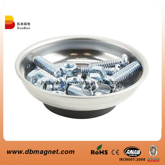 Stainless Steel Heavy Duty 4 Inches Round Magnetic Screws Tools Parts Tray Holder pictures & photos