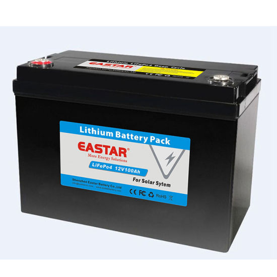 Long Life 12V 100ah Lithium LiFePO4 Battery for Power Storage