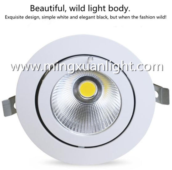 Rotation LED Downlight Embedded Clothing Store Living Room Ceiling Light pictures & photos