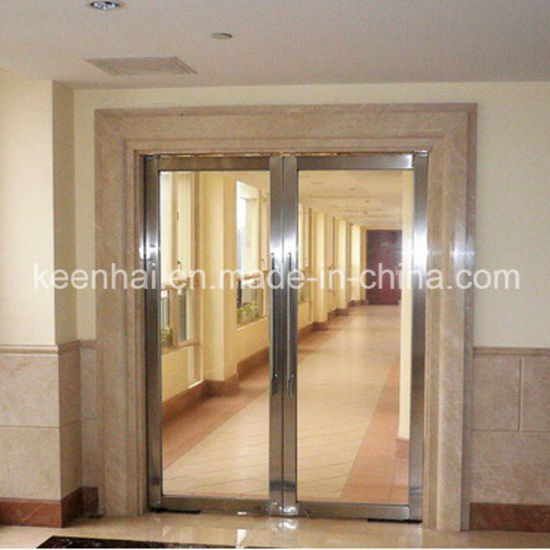 China Stainless Steel Tempered Glass Commercial Entry Security Door