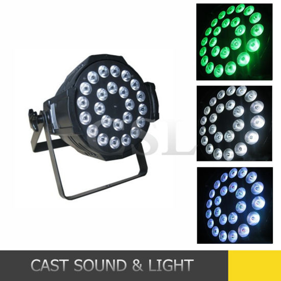 Professional 24PCS Rgbwuv LED PAR Can Stage Ligting (CSL-624A) pictures & photos