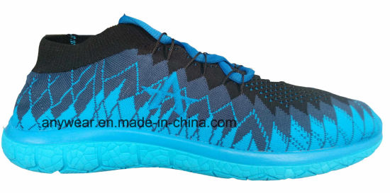 China men outdoor sports flyknit running footwear (816-9985-1) pictures & photos