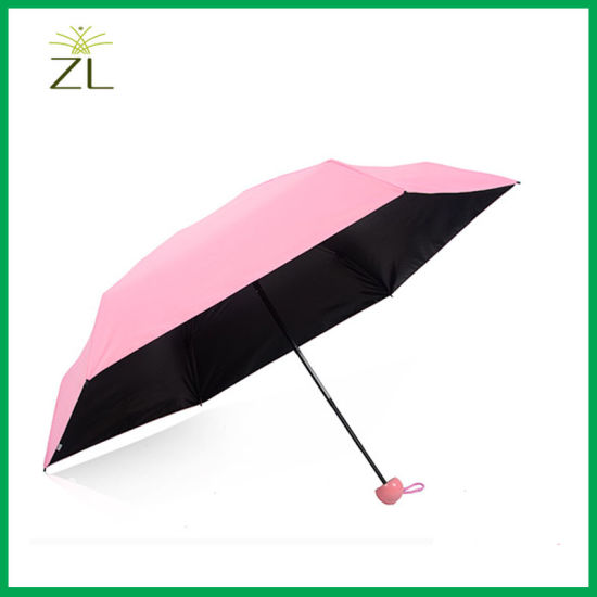 Cheapest 21 Inch Colorful Small Folding Umbrella for Lady pictures & photos
