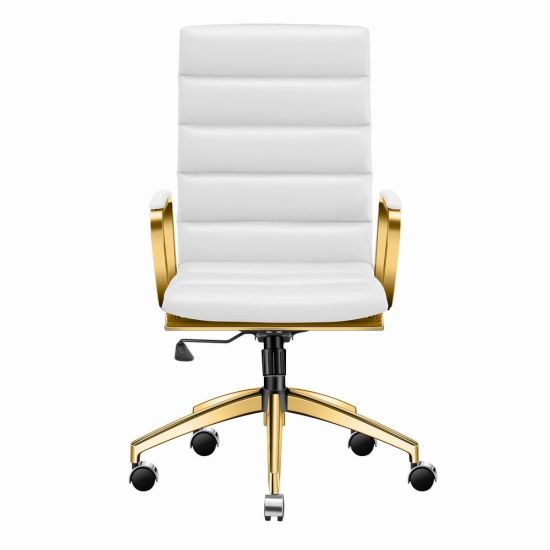 China Gold High Back Office Chair, White And Gold Office Chair High Back