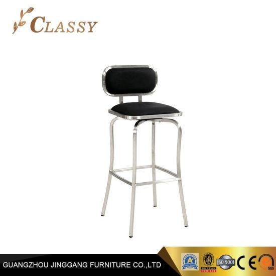 Terrific China Mirror Stainless Steel Bar Stool With Black Pu Seat Ncnpc Chair Design For Home Ncnpcorg