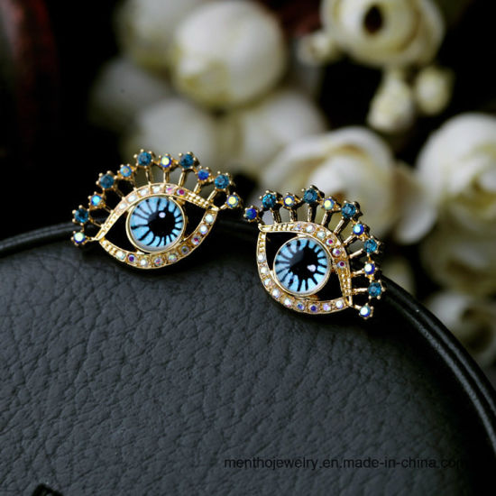 New Simple Eye Shape Star Fashion Imitation Jewelry Stud Earring pictures & photos