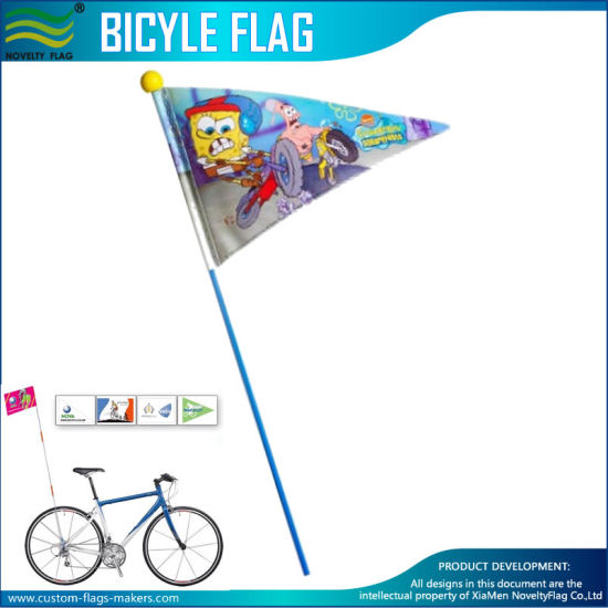 Bicycle Safety Flag 62in 2-Piece Bike Axle Mount High Visibility