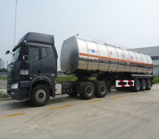 Heat Tri Axle Stainless Steel Utility Oil Tank Semi-Trailer