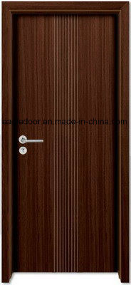Economical Interior Wooden Rounded MDF PVC Door (EI-P082) pictures & photos