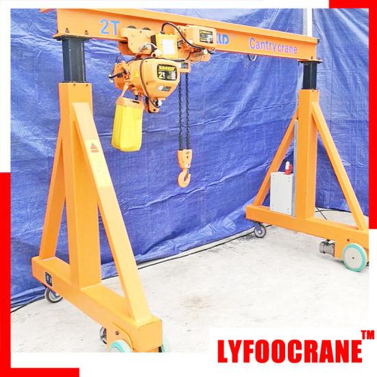 China Portable Wheel Manual Hoist Gantry Crane 2t China Manual