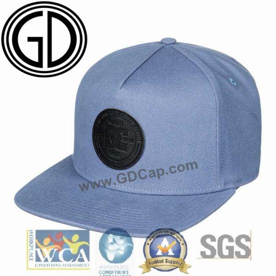 d7d2c662 China High Quality PU Leather Badge Flat Brim Snapback Caps Hats ...