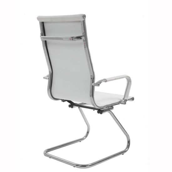 Outstanding High Back Modern High Back White Pu Leather Guest Chair With Protective Arm Sleeves Machost Co Dining Chair Design Ideas Machostcouk