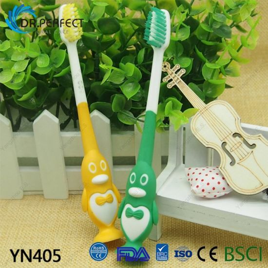Toothbrush with Animal Adsorption Chassis for Children